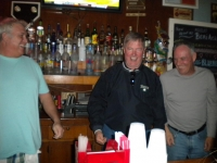 Wally Lage ready to get in on the action behind the Bar!
