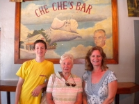 DJ, Kathleen & Theresa ( Chi Chi's Great Grandson, Daughter & Grandaughter visit Dons' Place..formerly known as Chi Chi's)